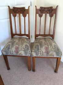 Pair of Arts & Crafts Chairs