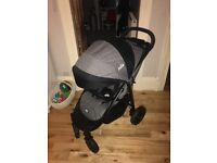 Joie litetrax 4 wheel stroller barely used pristine condition