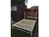 ORNAMENTAL METAL DOUBLE BED FRAME
