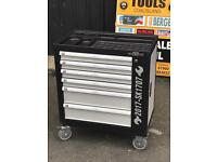 New 2017 Model 6 Drawer Tool Box with 266pcs Tools + Side Cabinet with 2 Shelves + Lockable Door