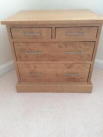 Next Light Oak 4drawer Cabinet