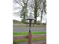 2 x lamp post heads