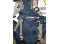Trespass Levitate 65 Backpack/Rucksack 65 Litre Navy Blue / BRAND NEW
