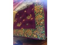 Brand new beautiful embroidered sari