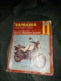 Yamaha Rd 250 & 350 LC USED Haynes manual.