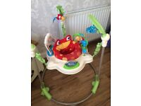 Rainforest baby bouncer