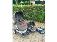 Unisex Mamas & Papas Skate Pushchair/Car Seat/Isofix Base/Carry Cot 3 in 1