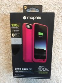 Mophie juice pack air for iPhone 6/6s, pink, brand new and sealed in box