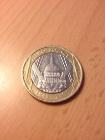 Rare £2 coin St. Paul's Cathedral: MINT ERROR