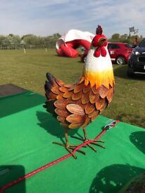 Garden Farmyard Metal Hen
