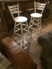 High back stools