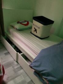 Single malm bed / underbed drawers