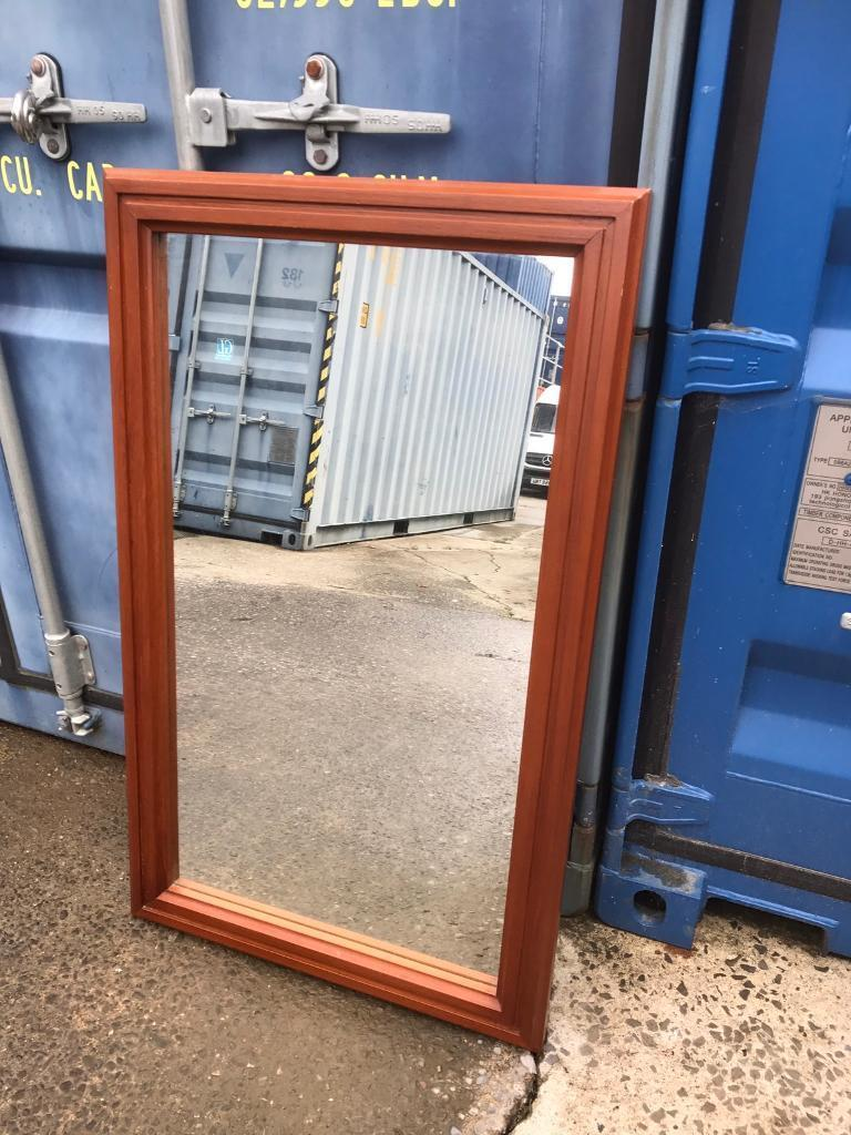 Large wooden framed mirror FREE DELIVERY PLYMOUTH AREA