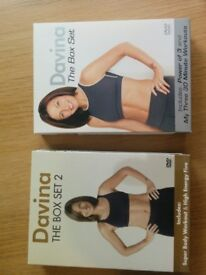 Two Fitness DVD box sets - Davina Mccall Super body workout and power of three