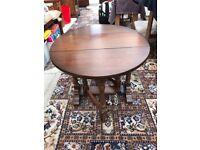 Wooden drop-leaf side table