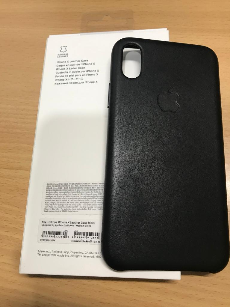 big sale 1b002 d4d70 iPhone X Leather Case in Black - Purchased from Apple Store | in Sutton,  London | Gumtree