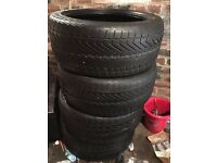 4X Vredenstein Wintrax 4 xtreme 275/40/r20 106v winter and mud tyres 4/5mm tread