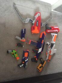 Set of Nerf guns