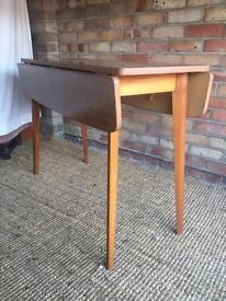 Small Danish Drop Leaf Teak Frame Table by Centa