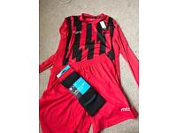 Brand new tagged, bagged and boxed Mitre football kit