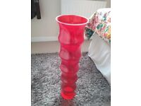 Very tall glass vases