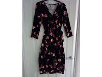 Black Floral maternity dress size 14.