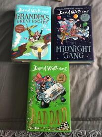 DAVID WALLIAMS 3 HARDBACK BOOKS