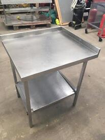 Stainless steel corner work unit