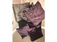 Large Purple silver grey cushions (can change covers)