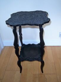 Indian wood occasional table.