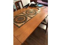 Vintage signed 'ox' teak danish extendable table