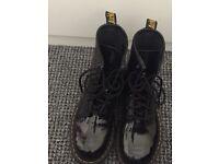 Black patent Dr Marten boots
