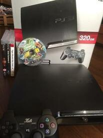 PS3 boxed console 320gb & Games