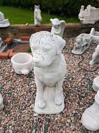 Concrete garden rottweiler dog