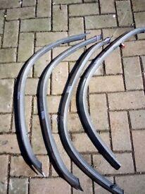 Mitsubishi pinin wheel arch covers black