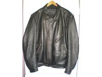 Bikers Paradise Leather Motorcycle Jacket Size 52