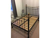 Feather & Black Double Bed