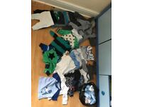 Newborn and up to 1 month boy clothing bundle