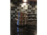 Stainless steel saucepan set