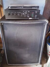 PA System Adastra A85 Amplifier Quality powerful amp with massive speaker Toshiba Dvd player P A