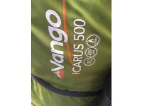 Vango Icarus 500 tent, used once, so perfect like new condition