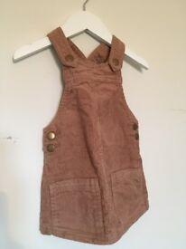 Next corduroy pinafore dress