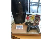 PlayStation 3 - Black - 2 Games - 1 Controller