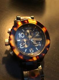 Nixon 42-20 Chronograph Watch black and tortoise shell