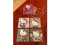 Hello Kitty wall paintings and light