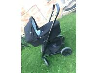 Joie travel system push-chair and cot/car seat adapters