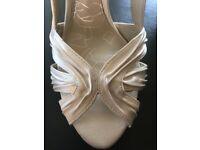 Next Ivory sling back stiletto shoes - size 40 (61/2)