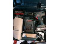 Bosch 18v combi with 2 batteries box and charger