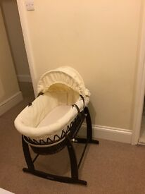 Moses basket with stand, matress and sheets