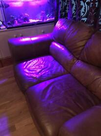 Sofas. 3&2 grade a leather good condition was £3000 new